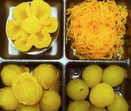 混合泰国dessets 免版税图库摄影