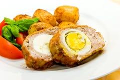 混合烤的细致切好的肉 免版税库存图片