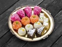 混合甜点食物 免版税图库摄影