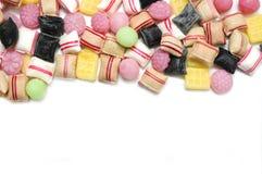 混合的分类糖果 图库摄影