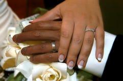 混合的婚姻 库存图片