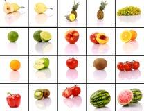 混合的收集果子 库存图片