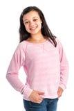 混合的族种十几岁的女孩微笑。 免版税库存图片