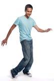 混合的族种少年跳舞 库存照片