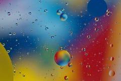 混合的水和油backgroud 图库摄影
