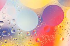 混合的水和油backgroud 库存图片