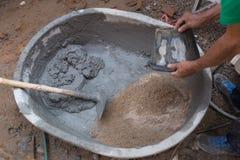 混合的水泥 免版税库存图片