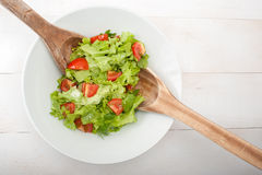 混合的沙拉 免版税库存照片