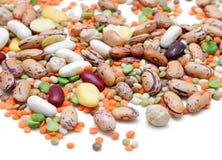 混合的豆类 免版税库存图片