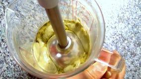 混合的辣木科粉末用酸奶 股票录像
