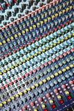 混合的音频控制台 免版税库存图片