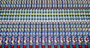 混合的音频控制台 免版税库存照片