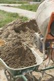 混合的水泥 图库摄影