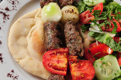 混合的kebab 免版税图库摄影