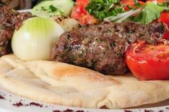 混合的kebab 免版税库存照片