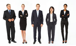 混合群商人和妇女 免版税库存图片