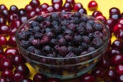 混合莓果和果子 夏天收获 库存图片