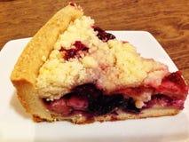 混合莓果碎屑馅饼 库存图片