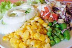 混合菜沙拉,健康食物 免版税库存图片