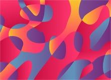 混合颜色传染媒介抽象水彩调色板  图库摄影