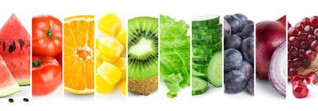 混合颜色水果和蔬菜 图库摄影