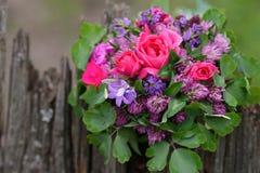 混合从特兰西瓦尼亚的花花束 免版税库存图片