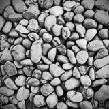 混合黑白样式的石头 免版税库存照片