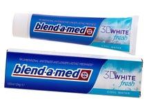 混合med牙膏, 3D白色新鲜 库存图片