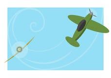 混战两飞机 库存图片