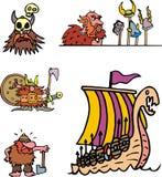 混杂北欧海盗动画片 图库摄影