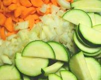 混杂和被切开的菜, diagnonal 免版税库存图片