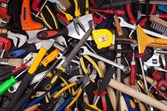 混杂工作工具 免版税库存图片