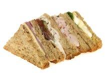 混杂的三明治选择 免版税库存图片