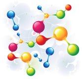 混杂的分子 库存例证