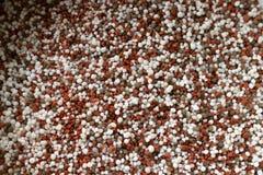 混杂的化学制品宏观射击  用于农业的矿物,农场,领域 库存图片