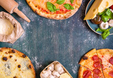 混杂的墨西哥食物背景 免版税库存图片