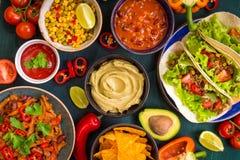 混杂的墨西哥食物 免版税库存照片