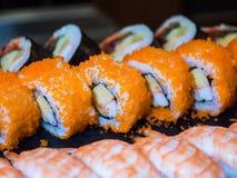 混杂的寿司集合 库存图片
