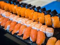 混杂的寿司集合 免版税库存照片