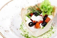 混杂的希腊沙拉 免版税库存照片