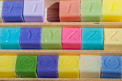 混杂的普罗旺斯肥皂 图库摄影