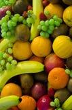 混杂的果子背景 库存照片