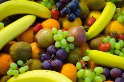混杂的果子背景 免版税库存照片
