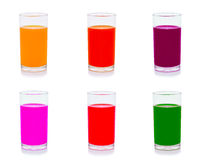 混杂的果汁被隔绝的白色背景 免版税库存图片