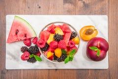 混杂的水果沙拉用新鲜水果 库存图片