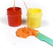 混杂的油漆红色黄色 免版税库存照片