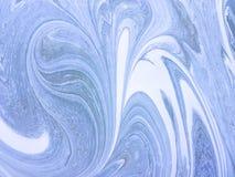混杂的油漆背景白色和浅兰的颜色 与卷毛的抽象背景 库存照片