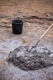 混杂的灰浆堆 库存图片
