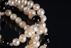 混杂的珍珠 免版税库存图片
