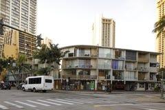 混杂的用途房地产威基基夏威夷 免版税库存照片